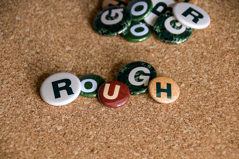 ROUGH 缶バッジ