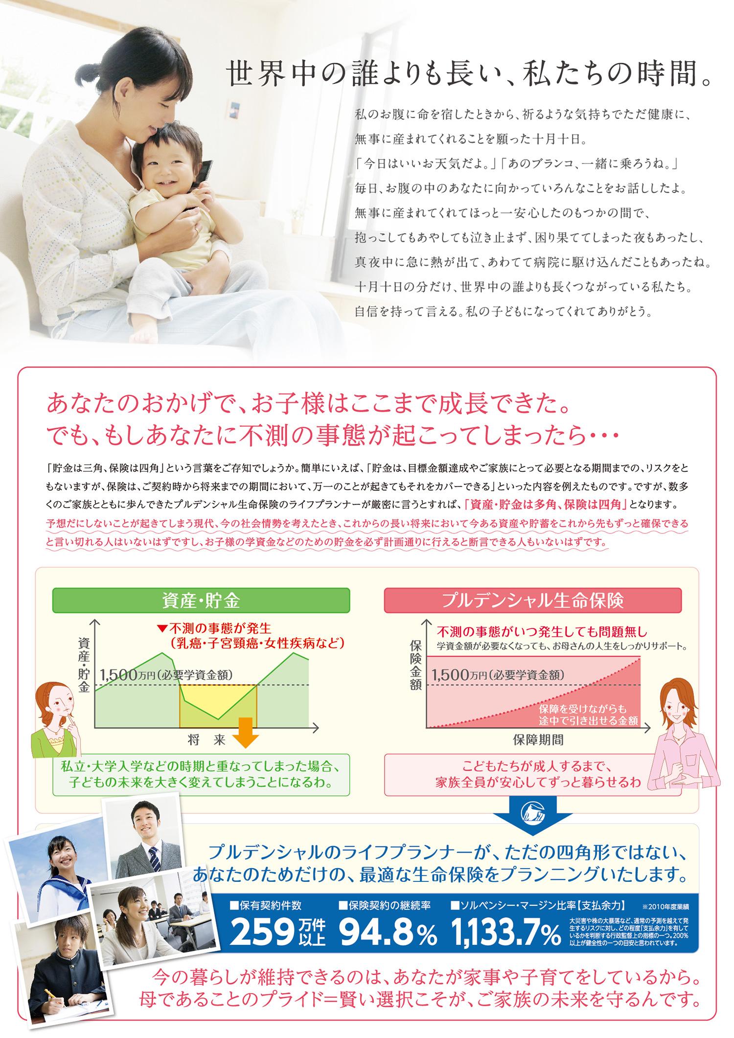 プルデンシャル生命保険株式会社 リーフレット 保険商品の説明