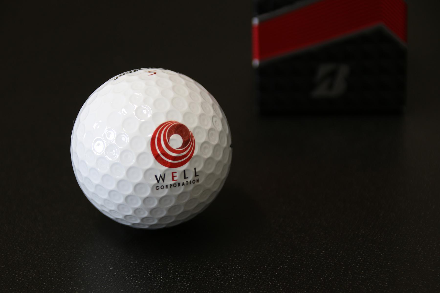 ゴルフボール ロゴマークプリント