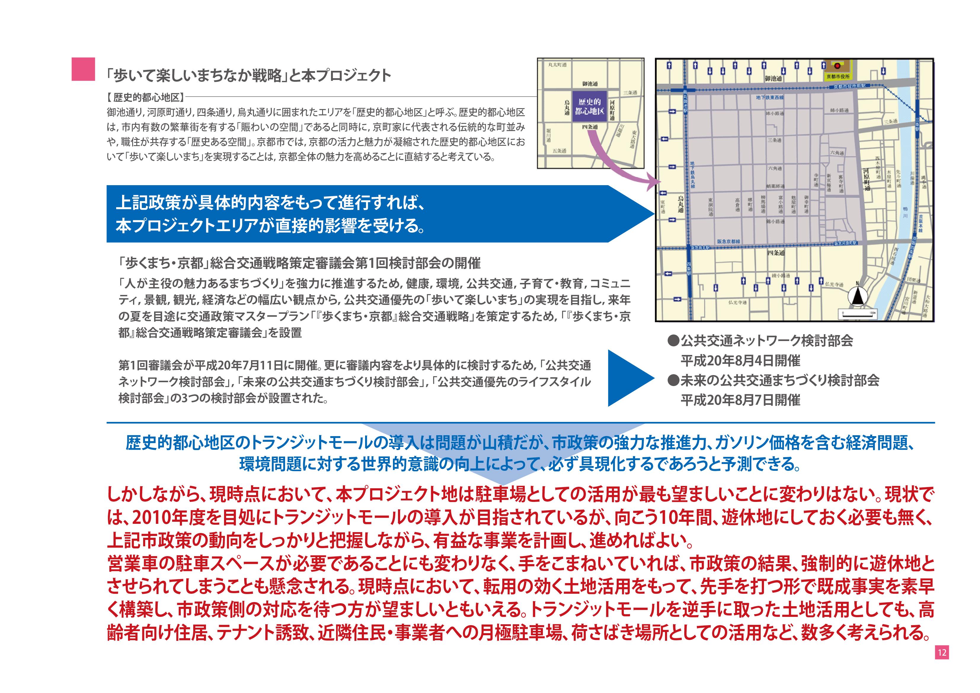土地有効活用プロジェクト-駐車場経営のご提案-「歩いて楽しいまちなか戦略」と本プロジェクト