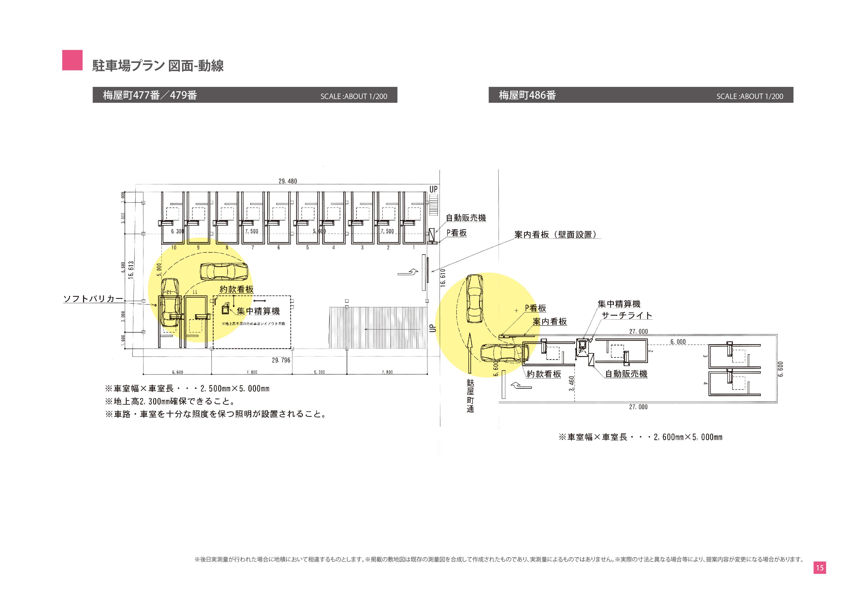 土地有効活用プロジェクト-駐車場経営のご提案-駐車場プラン 図面-動線