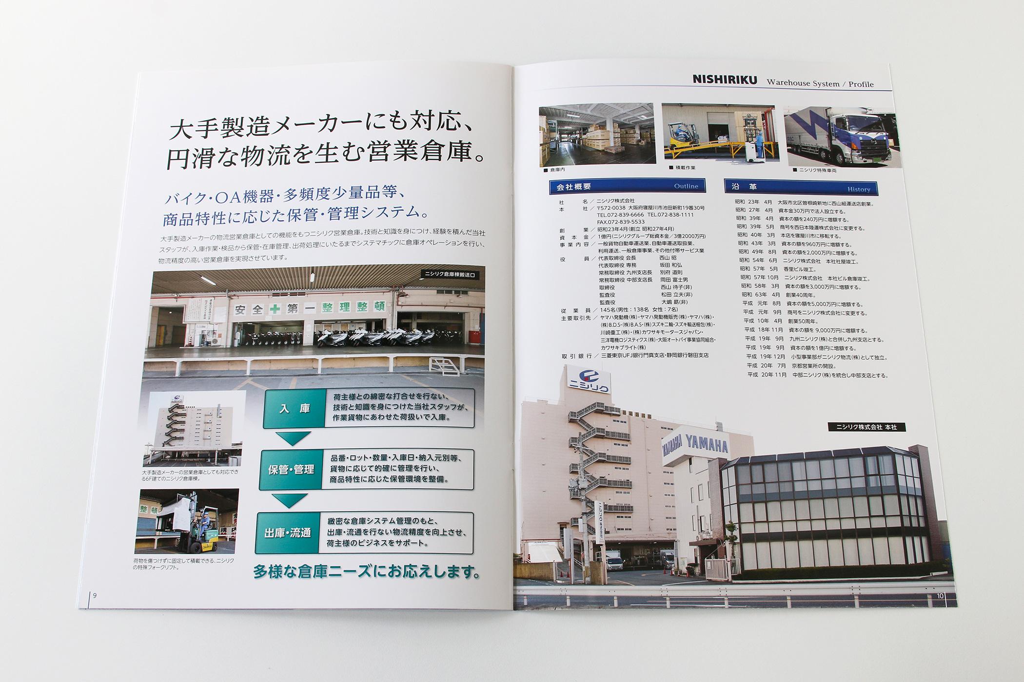 ニシリク株式会社-会社案内-倉庫業務・会社概要/沿革