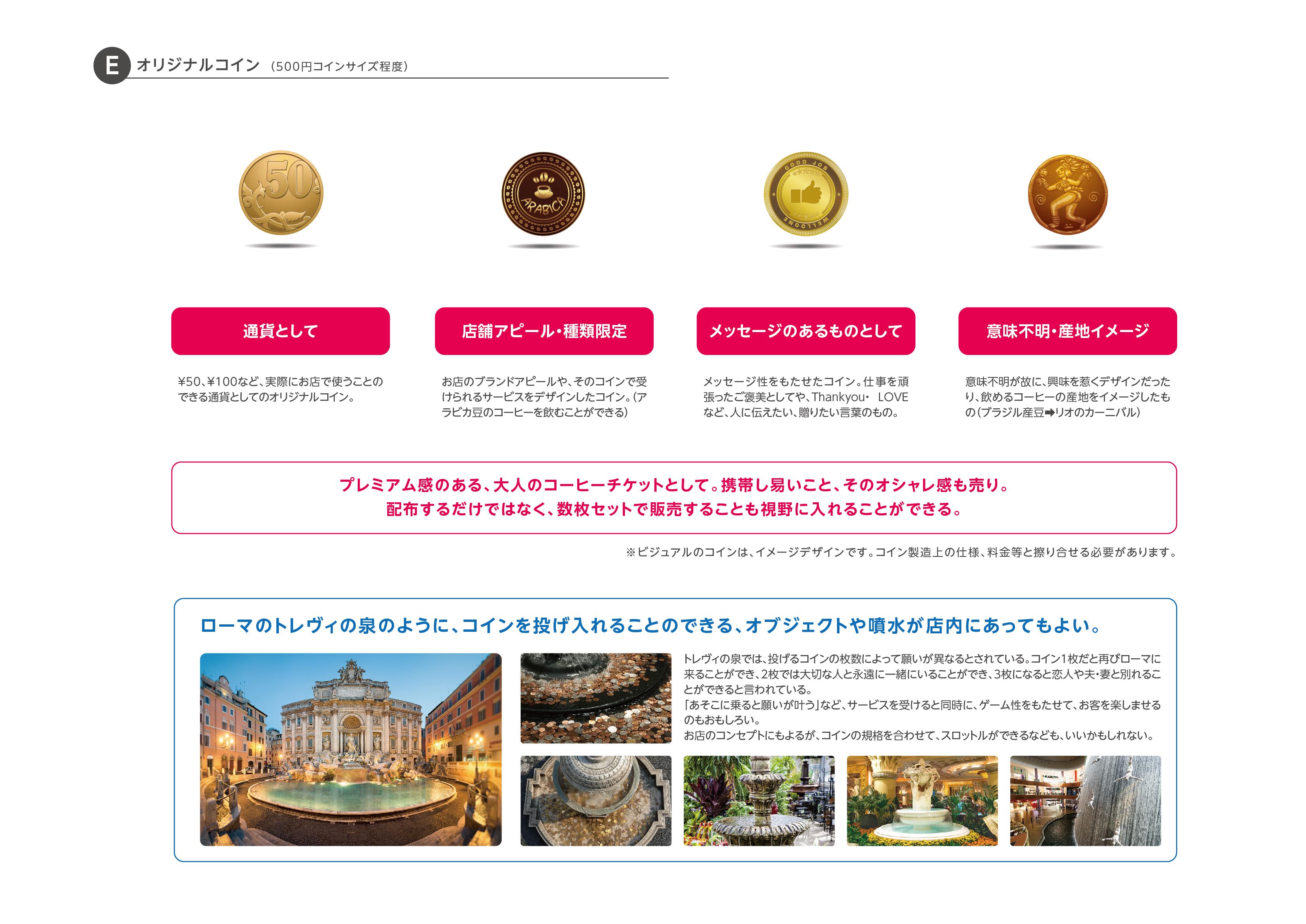 カフェチケットサービス:オリジナルコイン