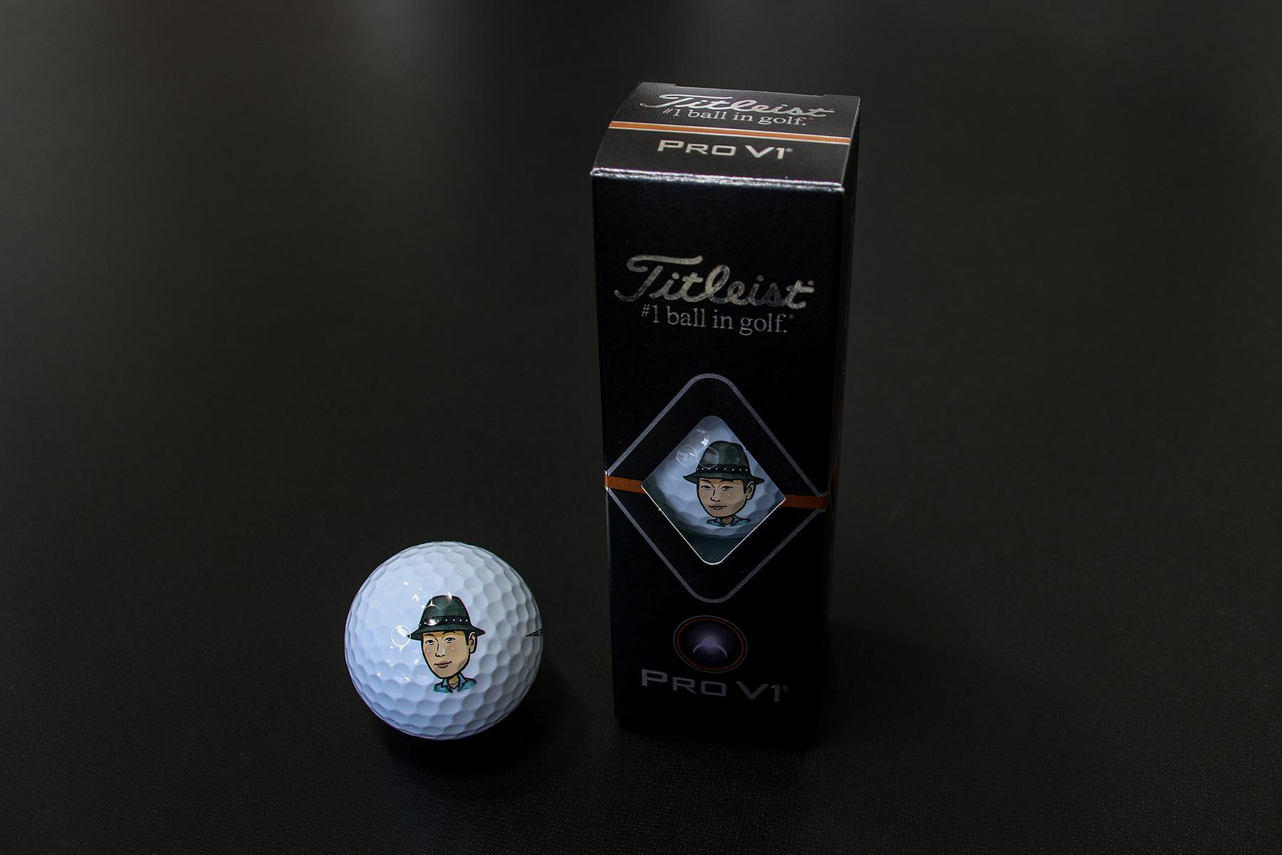 似顔絵ゴルフボールプリント02