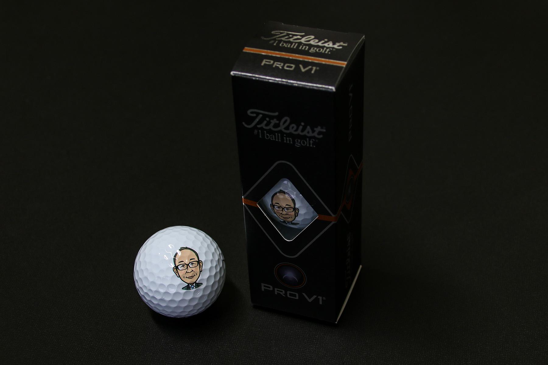 似顔絵プリントゴルフボール01