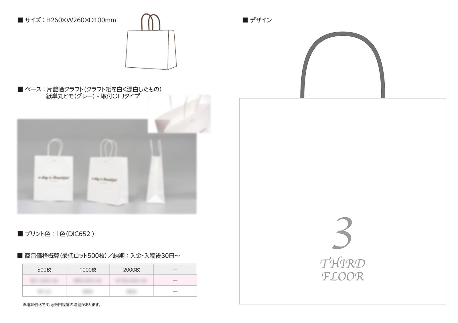 オリジナル手提げ紙袋デザイン
